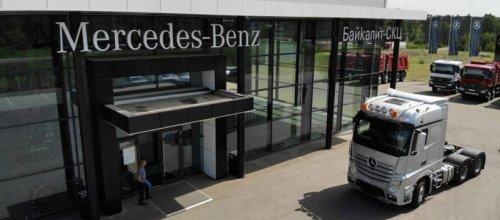 В России появился новый мощный грузовик Mercedes